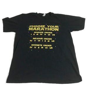 "Star Wars ""Choose Your Marathon"" T-Shirt Large"